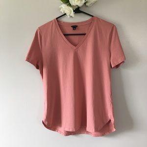 Ann Taylor Dusty Rose Short Sleeved Basic Tee M